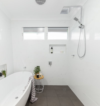 Small wetroom Renovation in Alstonville NSW 2477 By Northern Rivers Bathroom Renovations (NRBR), Ballinas specialist bathroom renovator.