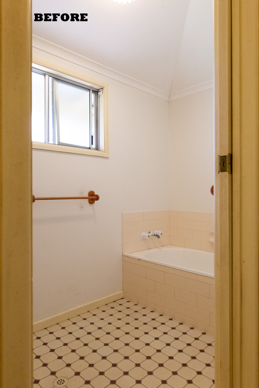 Before image of farmhouse bathroom renovation in Tullera, Lismore NSW 2480