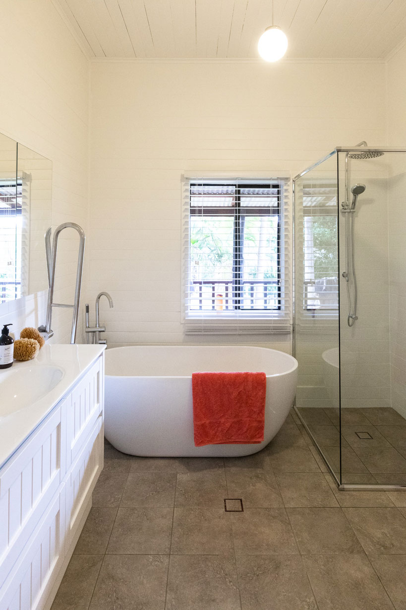 After image of a low cost farmhouse bathroom renovation by Northern Rivers Bathroom Renovations in Corndale NSW 2480