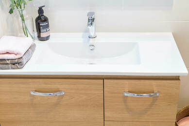 Vitrified China Vanity bench top installed by Northern Rivers Bathroom Renovation in Lismore NSW Australia