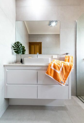 Modern Bathroom Renovation in Byron Bay by Northern Rivers Bathroom Renovations. Medium bathroom cost