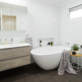 small bathroom renovation Alstonville NSW by Northern Rivers Bathroom Renovations. Bathroom renovation cost $25, 000