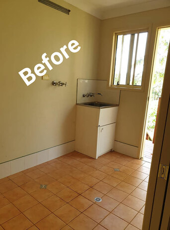 Before Laundry Renovation by Northern Rivers Bathroom Renovations